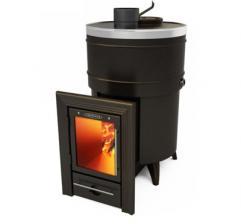 Печь для бани Скоропарка 2012 Inox Люмина черная бронза