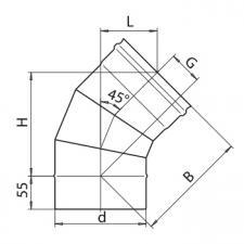 Колено 135° (430/0,5)