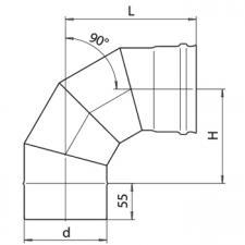 Колено 90° (430/0,5)