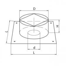 Потолочно-проходной узел (430/0,5мм)
